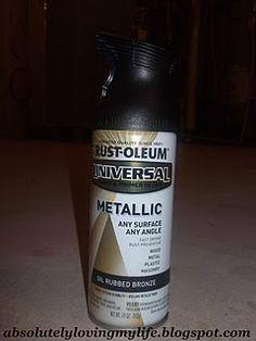 Spray paint door knobs Oil Rubbed Bronze