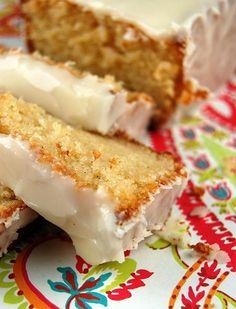 Vanilla Yogurt Cake with Orange Glaze