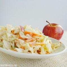 salad, coleslaw recip, appl cabbag, creami appl, apples, cabbag coleslaw