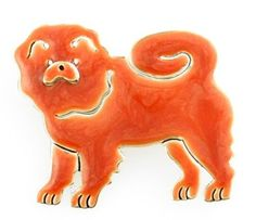 Chow Chow Dog Hand Enameled Pin: Jewelry: Amazon.com