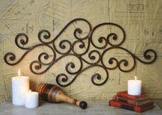 iron scroll outdoor art