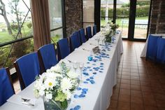 Blue theme banquet at Allure Restaurant in Rockwall, TX
