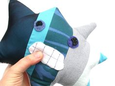 Stressy the Stress Monster Winter Plush Toy  Great by Fuffalumps, $36.00