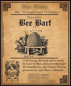 premium bee, bee barf, honey bees