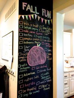 bucket list for fall