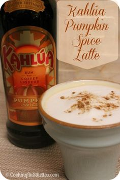 The Perfect Warm Fall Cocktail - a Kahlúa Pumpkin Spice Latte    http://cookinginstilettos.com/great-kahlua-pumpkin-spice-latte-kahluaspirit-pinittowinit/  #KahluaHoliday #KahluaSpirit #PinItToWinIt #Pumpkin #Espresso