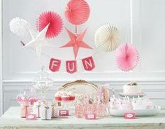Pink  White Party Banner