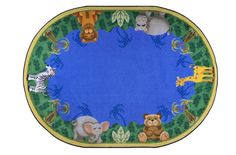 Joy Carpets Jungle Friends - Kids Rug perfect for reading time