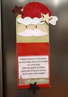 Santa's beard - count down for Christmas