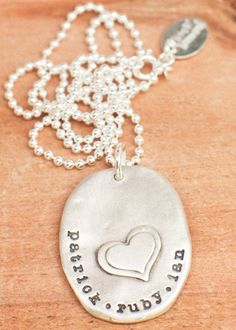 one our faithful pieces--has been a best seller for years!  captured heart necklace, via lisa leonard designs