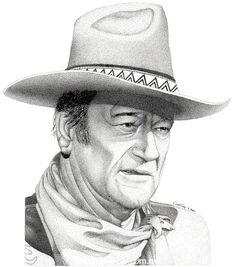Pencil Drawing of actor John Wayne