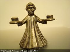 Italy angel candle holder silver - MAKE $ OFFER DreamLandSpecialties@comcast.net