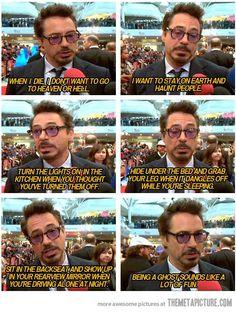 Robert Downey Jr. being himself…