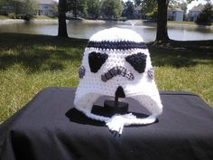 Star Wars Stormtrooper Crochet Hat.