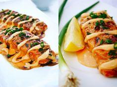 Pretty tasty, like sushi without the roll. teriyaki sriracha cream sauce salmon