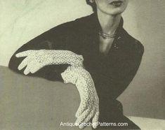 Crochet Lace Gloves - Free Crochet Pattern