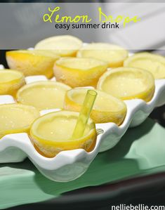 An easy lemon drop recipe. A perfect summer drink!