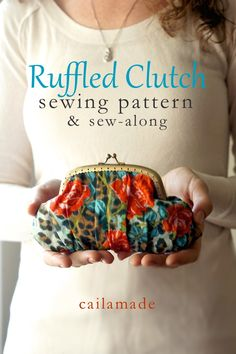 Ruffled Clutch – Free Pattern and Sew-along + How to Gather on a Serger from Caila Made and Sewing Parts Online #sewing