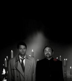 [GIF] Cas & Crowley. Priceless!