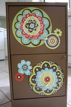 Love this filing cabinet re-do from Under The Table and Dreaming by Stephanie Lynn