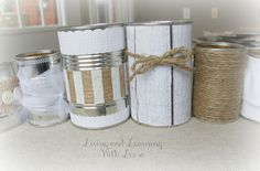 Tin Can Vases from Living and Learning with Luisa