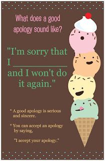 Counselor Corner - what does a good apology sound like?
