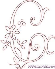 Monogram for Hand Embroidery - the letter G