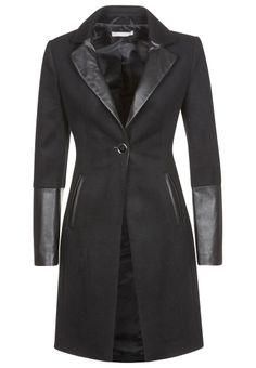 Stefanel - Wollmantel / klassischer Mantel - schwarz