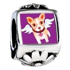 Chihuahua Dog From Heaven European Charms  Fit pandora,trollbeads,chamilia,biagi and any customized bracelet/necklaces. #Jewelry #Fashion #Silver# handcraft #DIY #Accessory