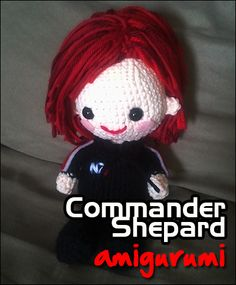 "free pattern : Mass Effect's Commander Shepard by ""Choco-Minto"""