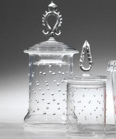 LaBoheme Apothecary Jars Dots - Set of 2