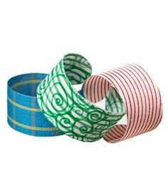 cuff bracelets made from empty water bottles! ~ I have a new respect for Duck brand Duct tape! It comes in so many different designs! I use by doris