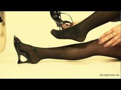 My High Heels : Sandals and stay up stockings / nylons
