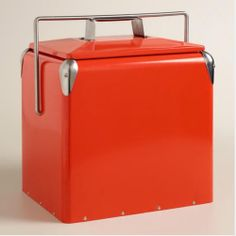 Cherry Red Retro Cooler at Cost Plus World Market  -------------------For the cool Daddy-O. The next best thing to that classic Mustang convertible. #WorldMarket #Gifts for him, #Father's Day #fun #cooler #classic #Retro #Vintage #dad #camping #gift