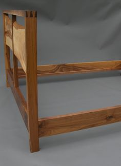 Walnut and Elm Bed