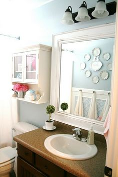 Pretty bathroom makeover