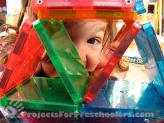 Love this photo - fun building with magna-tiles from Steve Spangler science