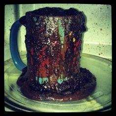 pinterest fail overflowing chocolate peanut butter mug cake