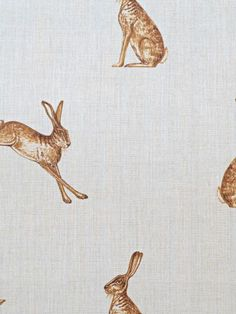 Fudge Hares Linen Fabric.
