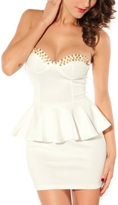 White Dress with Rivets