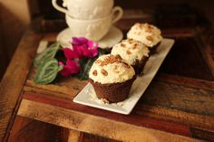 German Chocolate Cake Cupcake: low carb and gluten free!