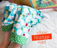 CHRISTMAS IN JULY: LOUNGE PANTS SEWING TUTORIAL