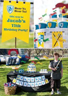 Medieval Knight Birthday + DIY Cupcake Stand Tutorial