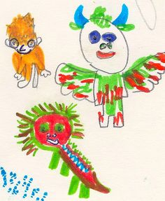 Entry by Luca Avila (7 years old) http://www.anorakmagazine.com/blog/crazy-monsters-drawing-competition.html