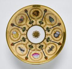 Saucer, c. 1800 - France, Hard-paste porcelain with enamel and gilt decoration