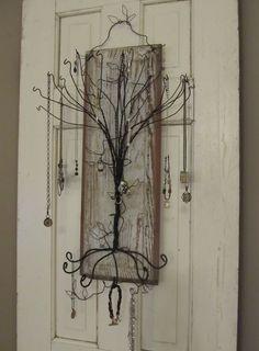 Coat Hanger Jewelry Tree