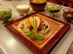 Copycat Rubio's Fish Tacos. Fish Taco Sauce-1/2 cup mayonnaise + 1/2 cup yogurt (or sour cream).