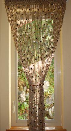 Kitchen door   Natural Jute crochet curtain door or window with by MountBlossom
