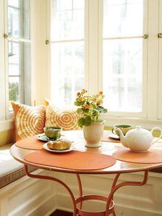 The perfect breakfast nook. #goodhousekeeping #happyroom
