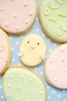 Easter chick & egg sugar cookies #Easter #cookies